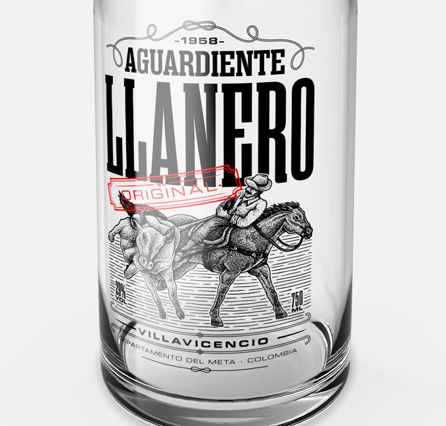 Aguardiente Llanero, proyecto de Juan José Montes. Master en Diseño de Packaging de ELISAVA, 2014-2015.