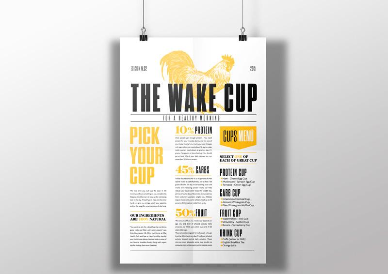 The wake cup, de Sol Balseca, Lina Yucumá y Valentina Uribe. Máster en diseño de packaging de ELISAVA, 2014-2015
