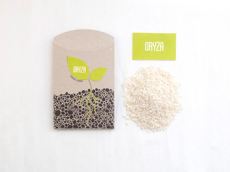 Oryza, ecopackaging de Lucía Eirea, Valentina Uribe y Barbara González. Master en Diseño de Packaging de ELISAVA, 2014-2015.