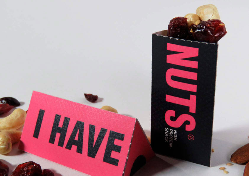 I Have Nut de Fernanda Madrigal, Nancy Nieto y Isabel Tabarini. Master en Diseño de Packaging de ELISAVA, 2015-2016.